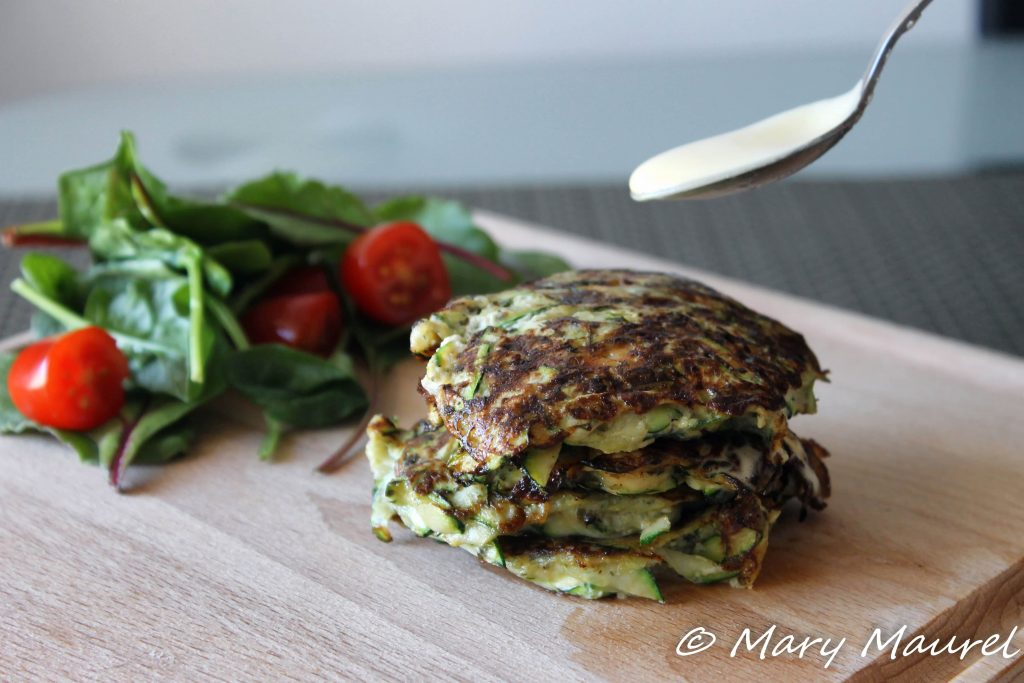 Pancake courgette